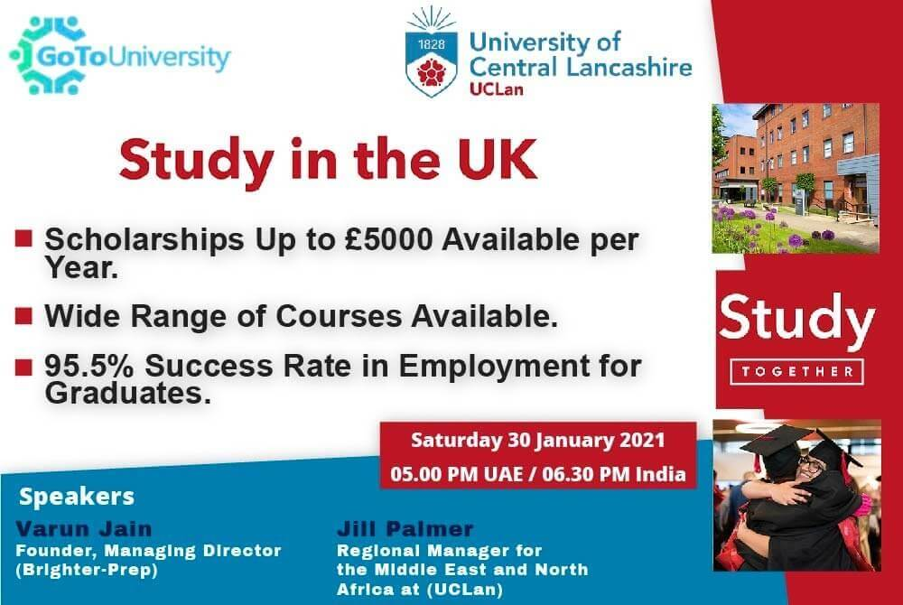 Study in the UK at the UCLan